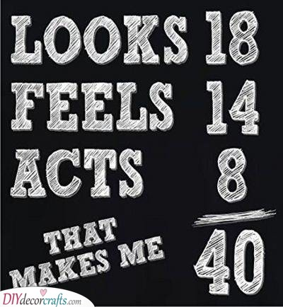 Looks, Feels and Acts - 40th Birthday Gift Ideas