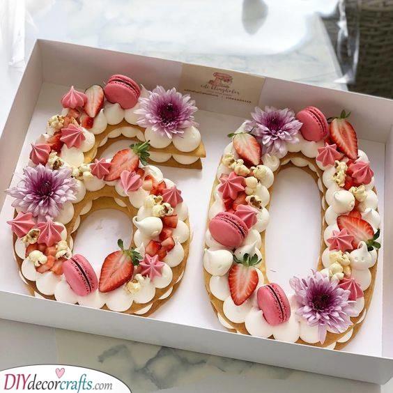 A Scrumptious Birthday Cake - A Delicious Sixty