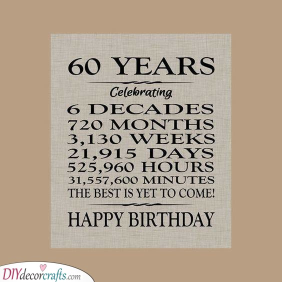 Sixty Years - Is Equal To