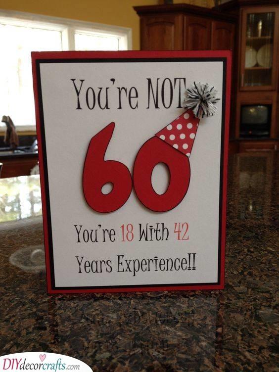 A Creative Card - 60th Birthday Present Ideas