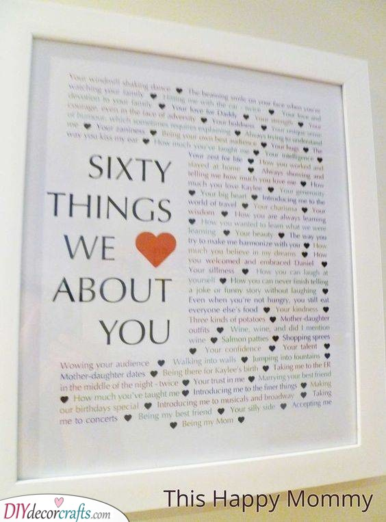 Sixty Things We Love - An Array of Reasons