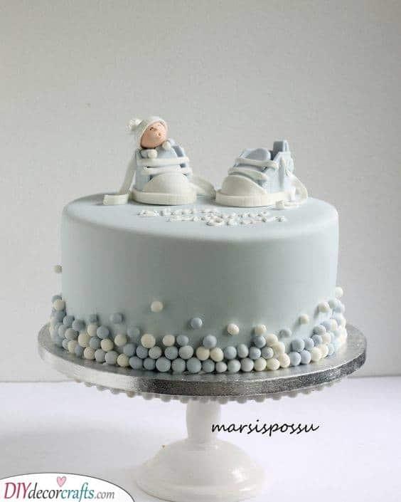 Baby Feet - Scrumptious Baby Boy Cakes