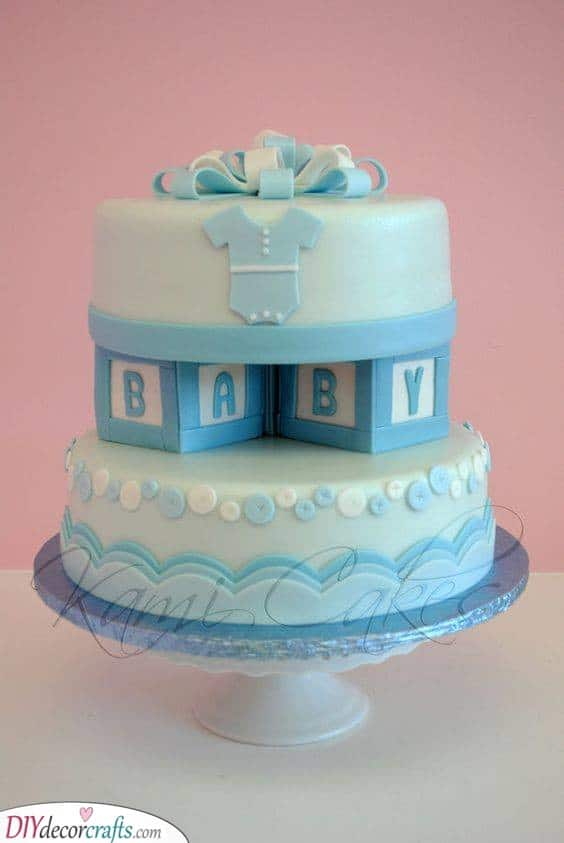 Baby Blocks - Unique Cakes for Boys