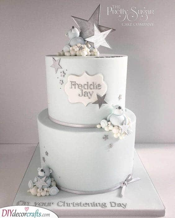 Silver Plentitude of Stars - Beautiful Cake Ideas