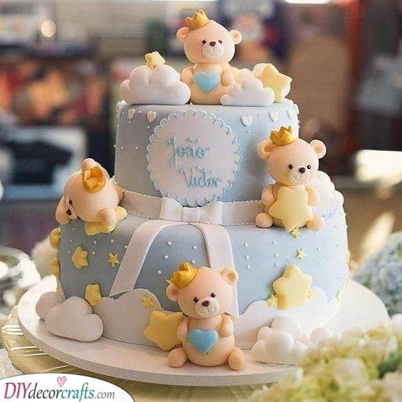 Bears and Stars - Baby Shower Cakes