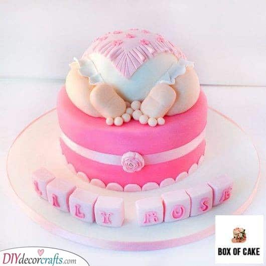 Pretty in Pink - Adorable Baby Shower Cake Ideas for Girls
