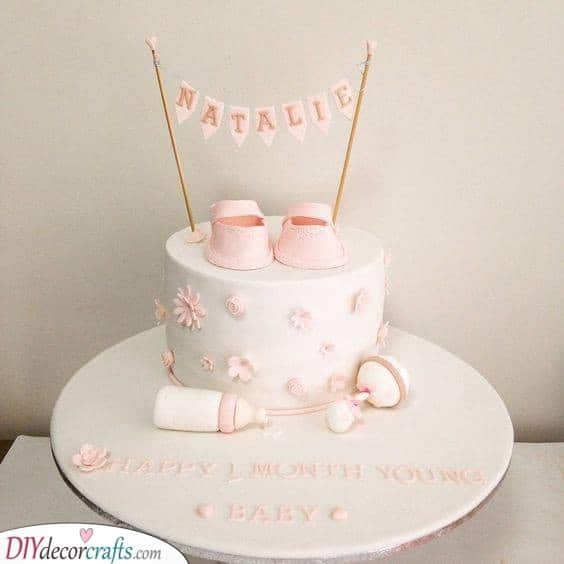 Florals and Baby Things - Baby Shower Cakes for Girls