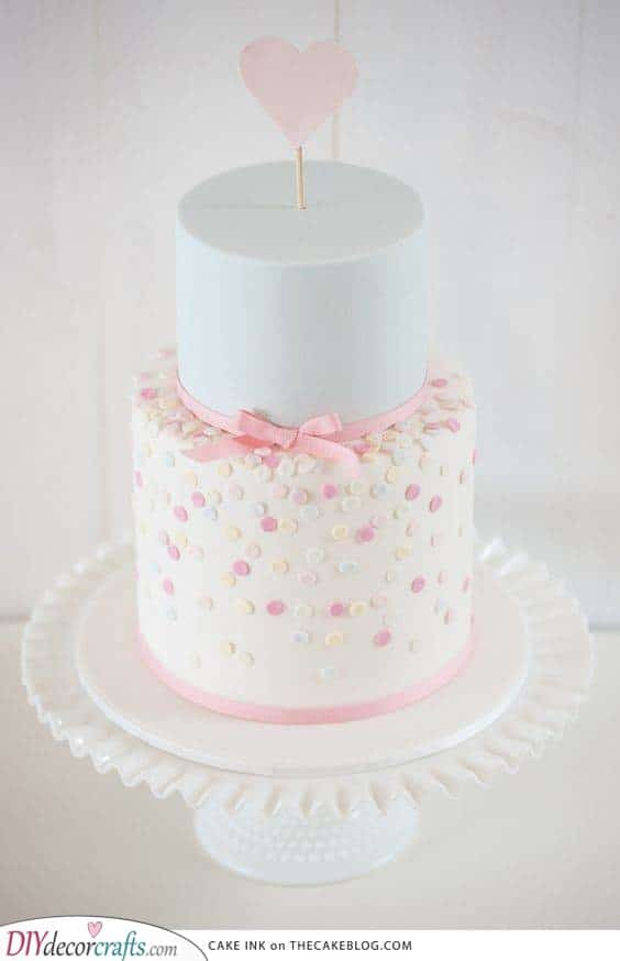 A Shower of Dots - Baby Shower Cake Ideas for Girls
