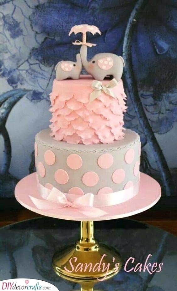 The Most Adorable Elephants - Cute Cake Designs