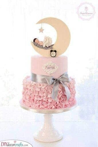 Sleeping Baby - Baby Shower Cake Ideas for Girls