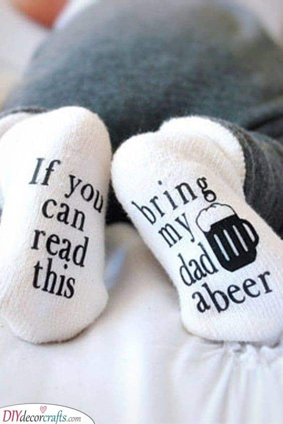 Funny Socks - Gift Ideas for a Baby Shower