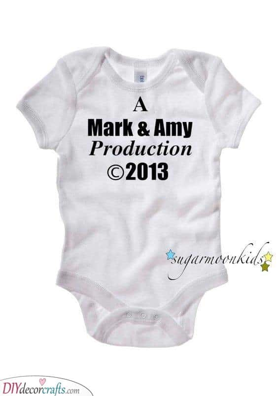 A Personalised Onesie - Great Presents for Baby Showers