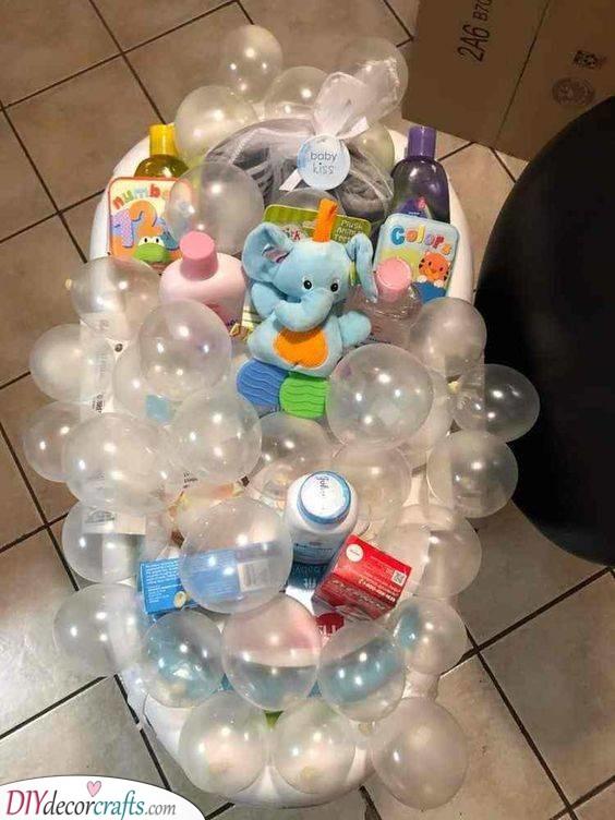 A Bubble Bath - Unique Baby Shower Gifts