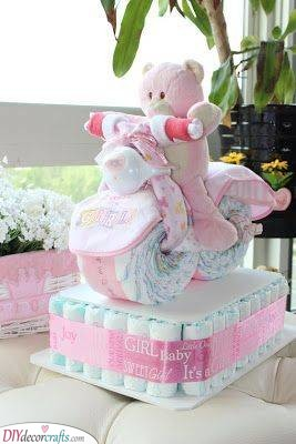 Bicycle Diaper Cake - Get Creative with Diapers