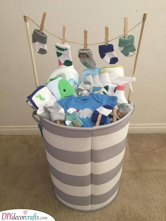 Basket of Gifts -Personalised Baby Shower Gifts