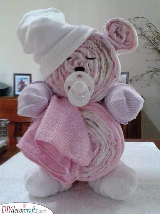 A Diaper Bear - Baby Shower Gift Ideas