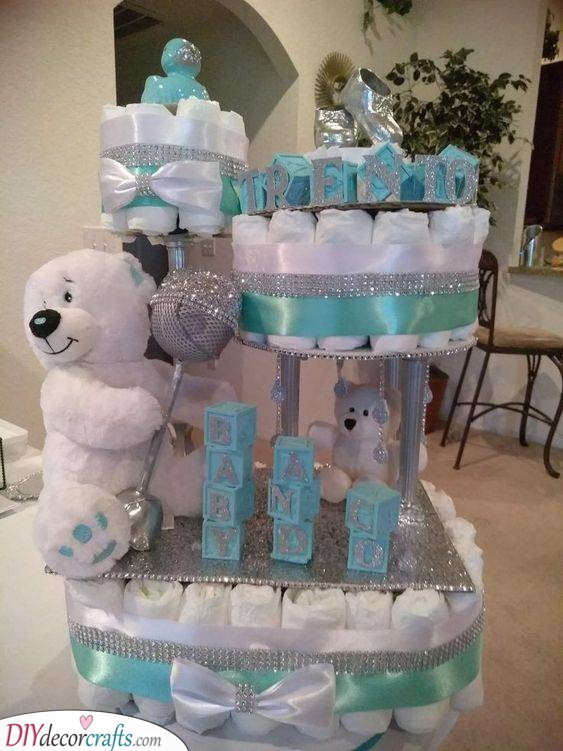 Diaper Cakes - With a Plentitude of Bears