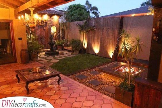 An Exotic Touch - A Beautiful Backyard