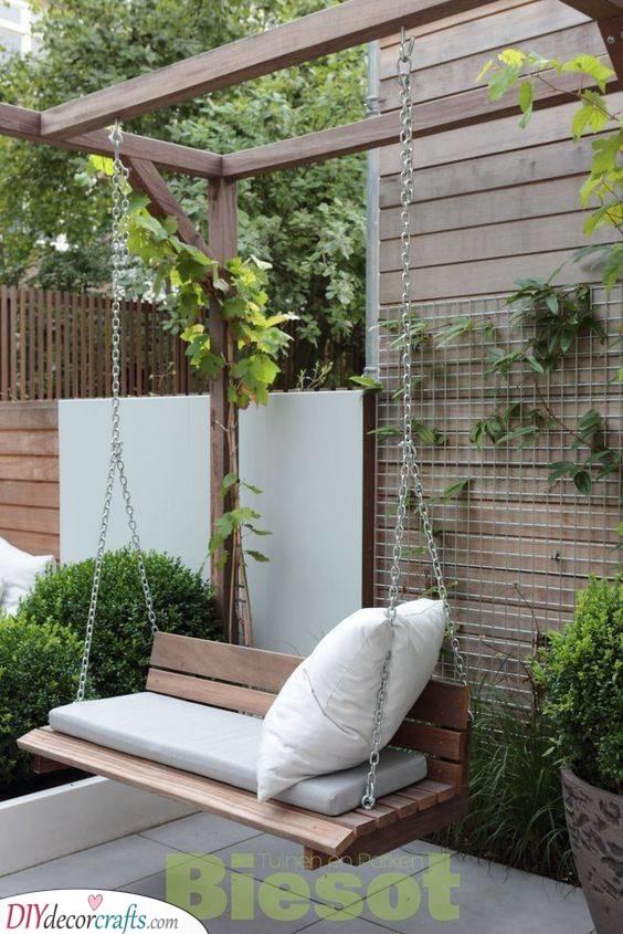 A Romantic Spot - A Garden Swing Seat