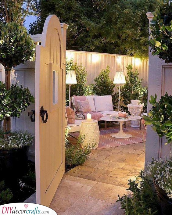 An Adorable Patio - Great for Entertaining Guests