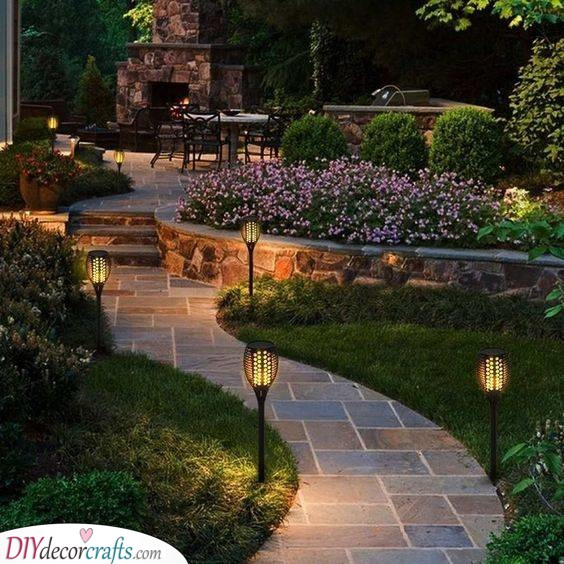 Let the Lights Lead You - Amazing Backyard Landscaping Ideas