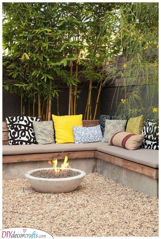 An Inviting Fire Pit - Perfect for Cold Nights