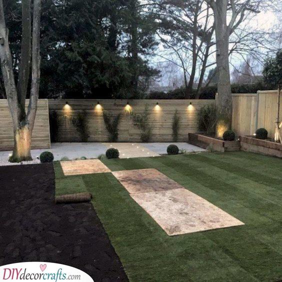 Modern Wooden Fencing - Backyard Landscaping Ideas