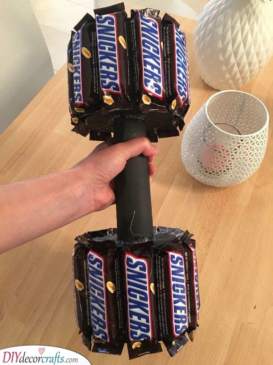 Training with Snickers - Funny Birthday Ideas for Sister
