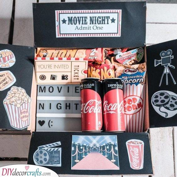 A Movie Night - Unique Birthday Gifts for Sister