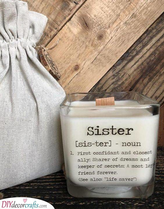 A True Definition - Unique Birthday Gifts for Sister
