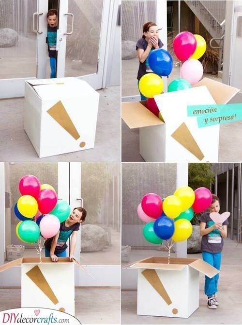 A Box of Balloons - A Birthday Surprise