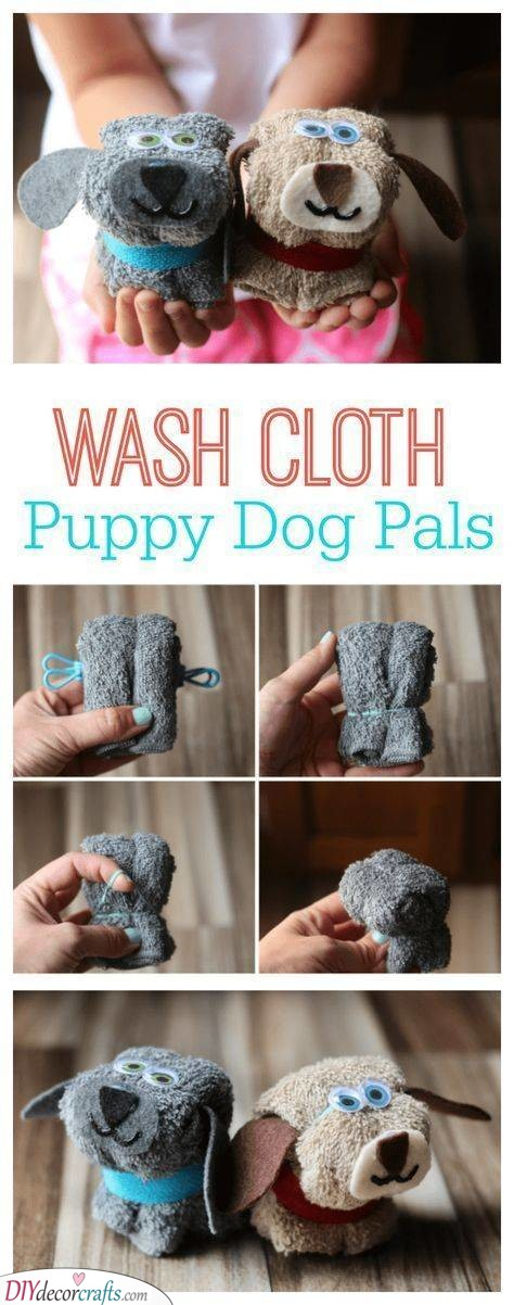 Puppy Dog Pals - Wash Cloth Ideas