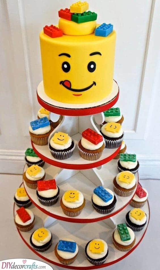 Lego Cupcakes - Birthday Treats