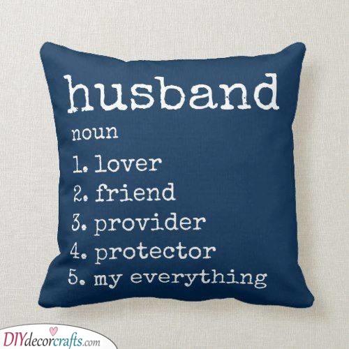 A Description of Him - A Pillowcase