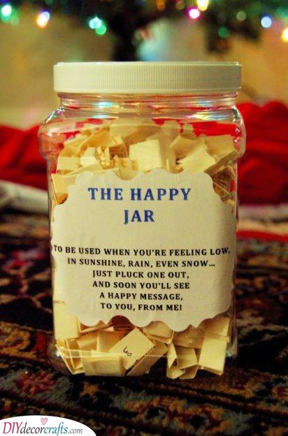 A Jar of Happiness - Sentimental Gifts for Best Friends