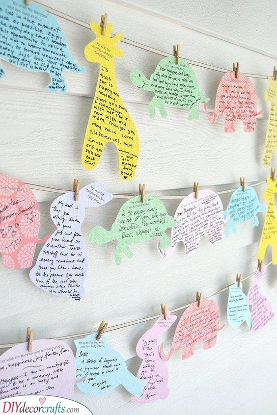 Notes from Guests - Animal Themed Shower