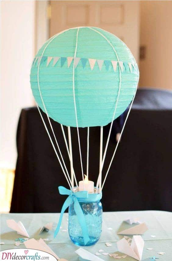 Flying High - Baby Shower Table Decorations