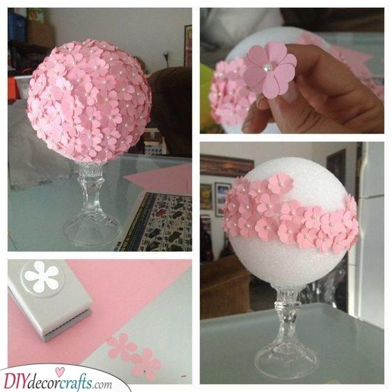 Gorgeous Floral Centrepiece - Baby Shower Decoration Ideas