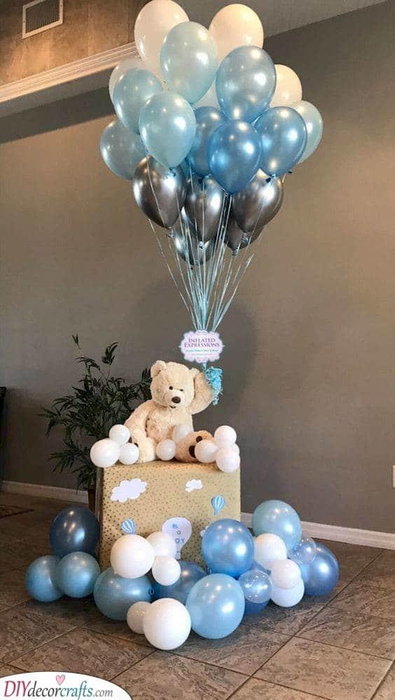 Flying Far Away - Cute Teddy Bear