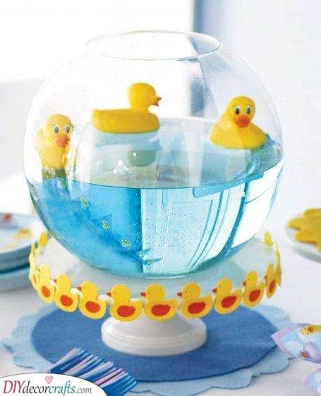 Floating Rubber Ducks - DIY Baby Shower Decorations