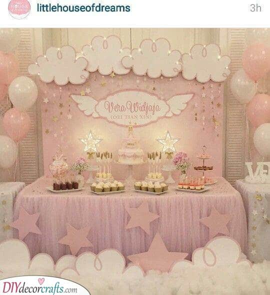 An Angelic Atmosphere - Baby Shower Theme Ideas