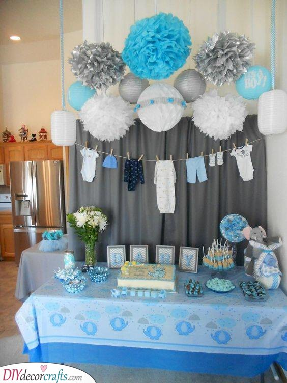 Elephants on Parade - Baby Shower Themes for Boys