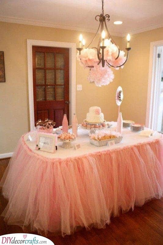 Fluffy and Pink - Beautiful Baby Shower Theme Ideas
