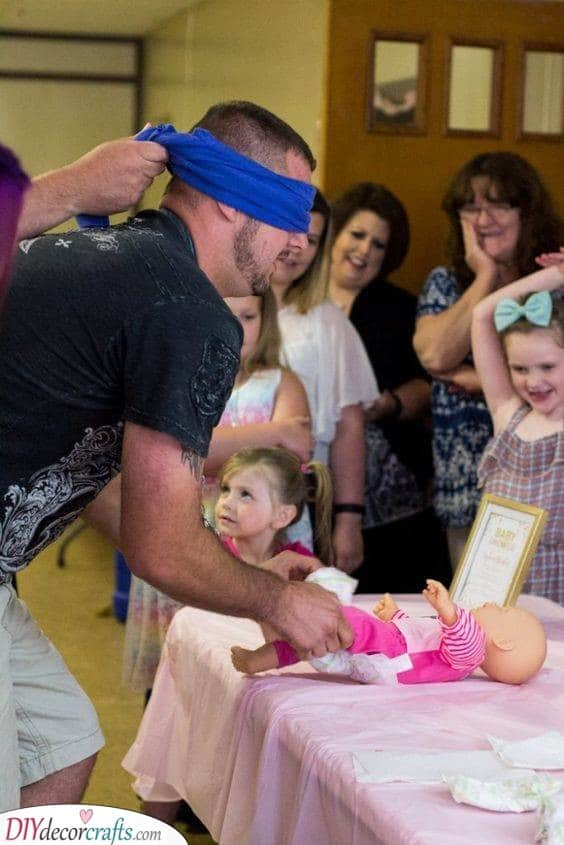 Blindfolded Idea - Funniest Baby Shower Games Ever