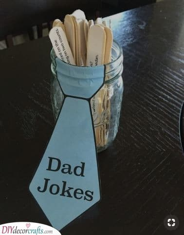 A Jar of Jokes - Awesome Retirement Gifts for Dad