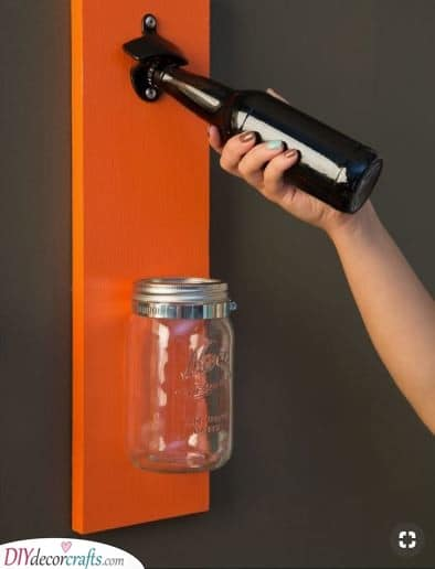 Opening Beers Easily - With a Cap Catcher