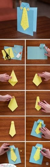 A Creative Card - Suit and Tie