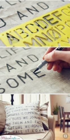 A Gorgeous Pillowcase - With a Message