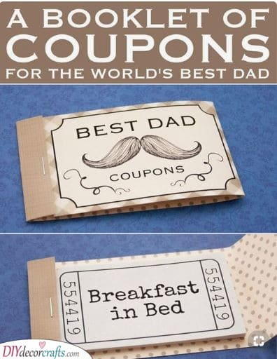 A Coupon Booklet - Treat Your Dad