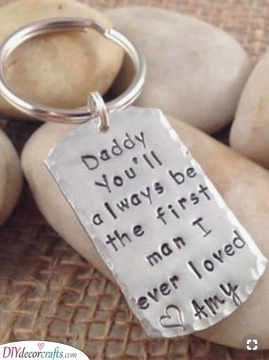 Cute Keychain - Personalized Gifts for Dad